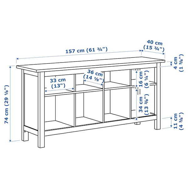 "HEMNES console table black-brown 61 3/4 "" 15 3/4 "" 29 1/8 "" 33 lb"