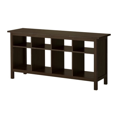 hemnes console table black brown ikea - Sofa Table Ikea