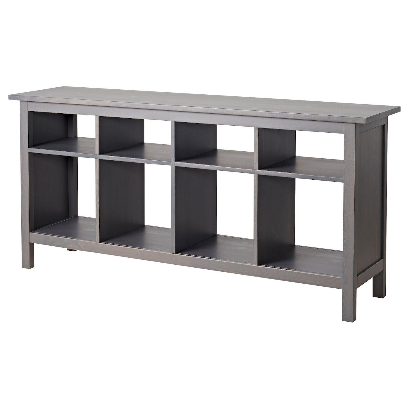 Hemnes Console Table Dark Gray Gray Stained Ikea