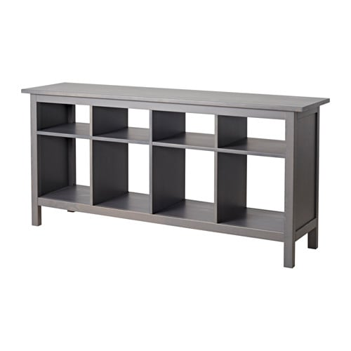 Hemnes console table dark gray stained ikea for Ikea hemnes wohnzimmerserie