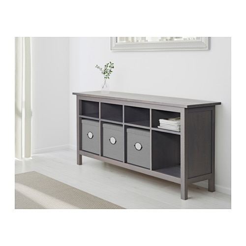 Hemnes Console Table Dark Gray Stained Ikea