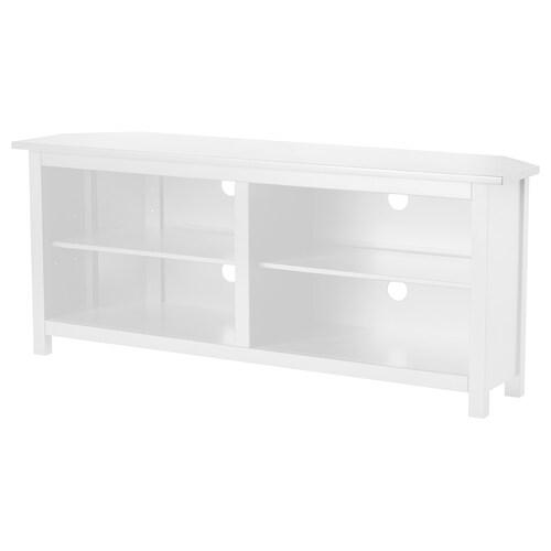 "HEMNES corner TV-bench white 57 7/8 "" 24 "" 16 1/8 "" 110 lb"