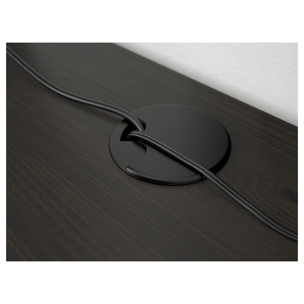 "HEMNES Desk, black-brown, 61x25 5/8 """