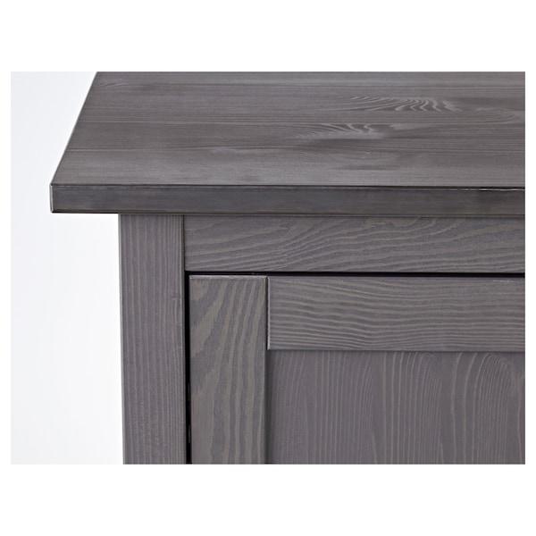 """HEMNES Desk, dark gray stained, 61x25 5/8 """""""
