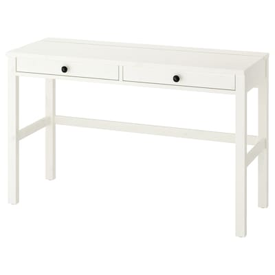 HEMNES Desk with 2 drawers, white stain, 47 1/4x18 1/2 ""