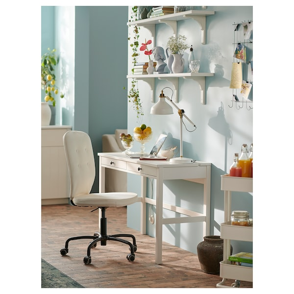 Desk With 2 Drawers Hemnes White Stain