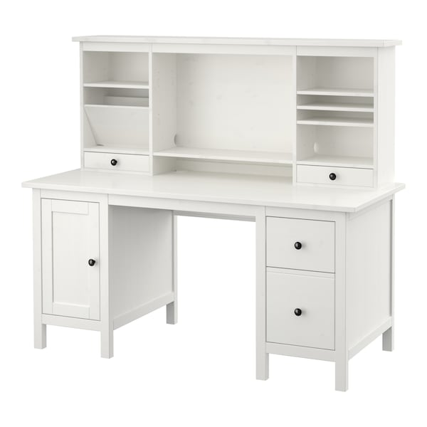 Desk With Add On Unit Hemnes White Stain