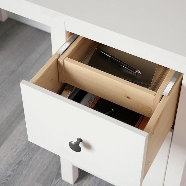 "HEMNES desk with add-on unit white stain 61 "" 53 7/8 "" 25 5/8 """