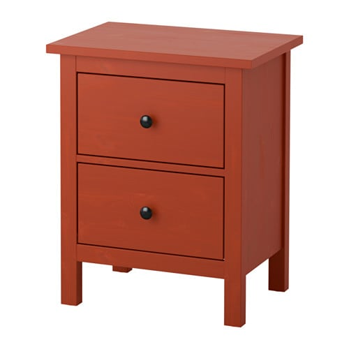 Hemnes 2 Drawer Chest Red Brown Ikea