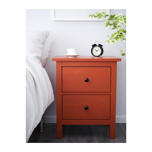 hemnes 2 drawer chest red brown ikea. Black Bedroom Furniture Sets. Home Design Ideas