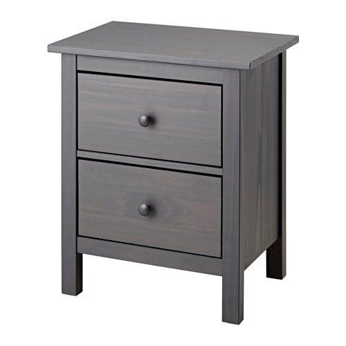 Hemnes 2 Drawer Chest Dark Gray Stained Ikea