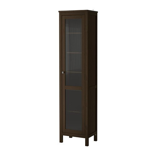 hemnes glass door cabinet black brown ikea. Black Bedroom Furniture Sets. Home Design Ideas