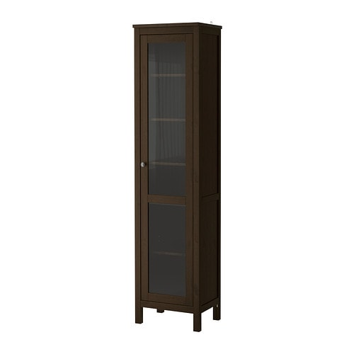 HEMNES Glass door cabinet black brown IKEA : hemnes glass door cabinet brown0177352PE330327S4 from www.ikea.com size 500 x 500 jpeg 13kB