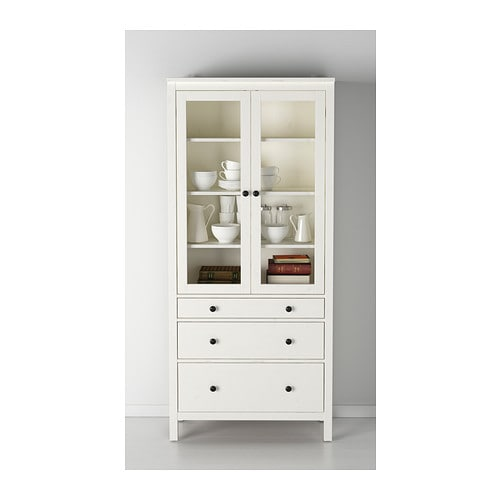 Beau HEMNES Glass Door Cabinet With 3 Drawers   Black Brown   IKEA