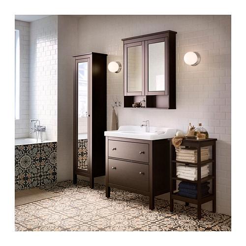 Hemnes High Cabinet With Mirror Door White Ikea