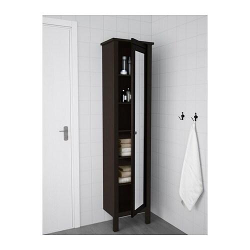 HEMNES High cabinet with mirror door - white - IKEA