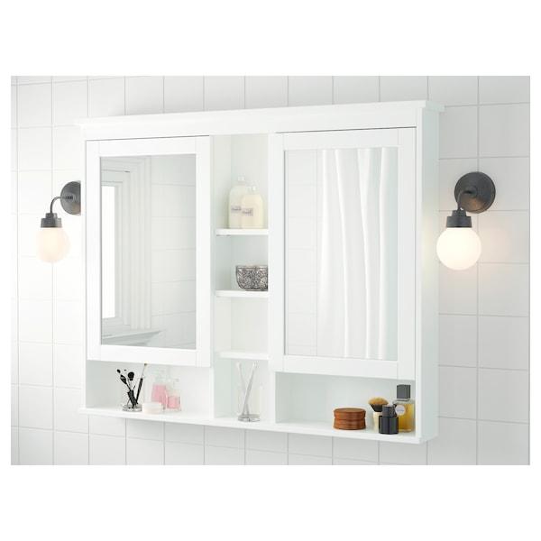"""HEMNES Mirror cabinet with 2 doors, white, 47 1/4x38 5/8 """""""