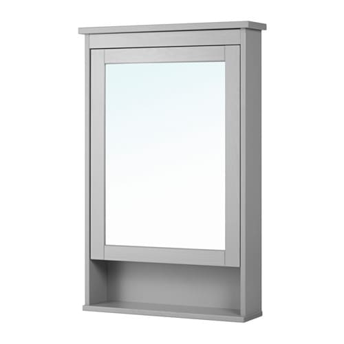 hemnes mirror cabinet with 1 door gray ikea. Black Bedroom Furniture Sets. Home Design Ideas