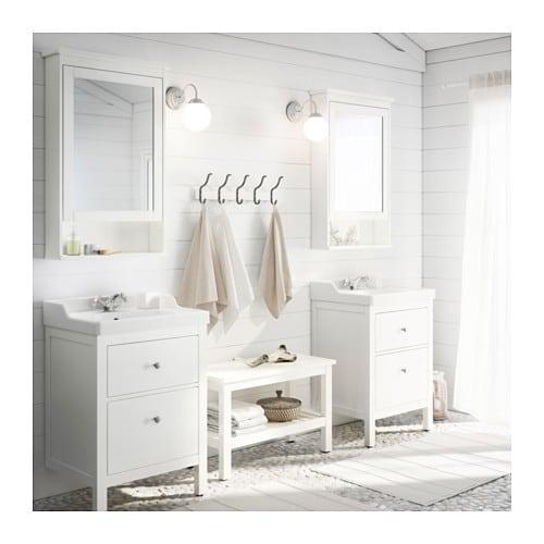 HEMNES Mirror cabinet with 1 door white IKEA – Ikea Hemnes Bathroom Vanity