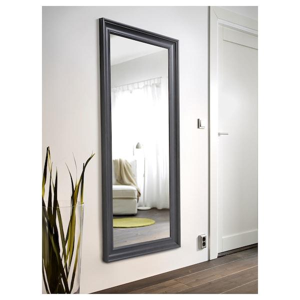 "HEMNES Mirror, gray stained, 29 1/8x65 """