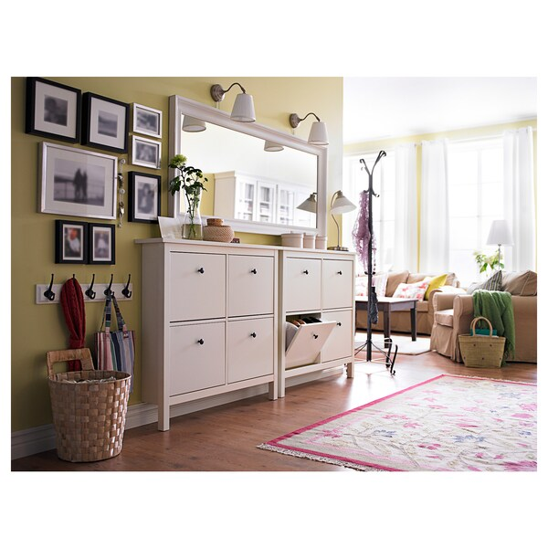 HEMNES Mirror, white, 29 1/8x65 ""