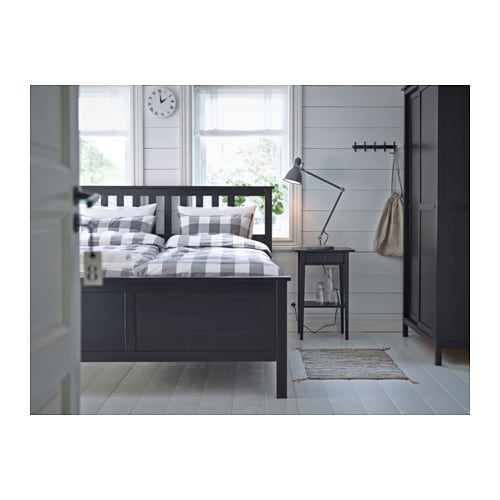 Bedside Stand hemnes nightstand - black-brown - ikea