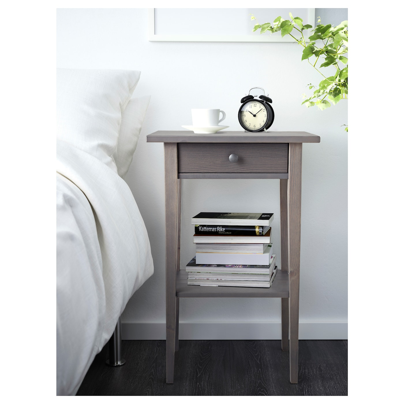 Hemnes Nightstand Gray Dark Gray Stained 18 1 8x13 3 4 Ikea