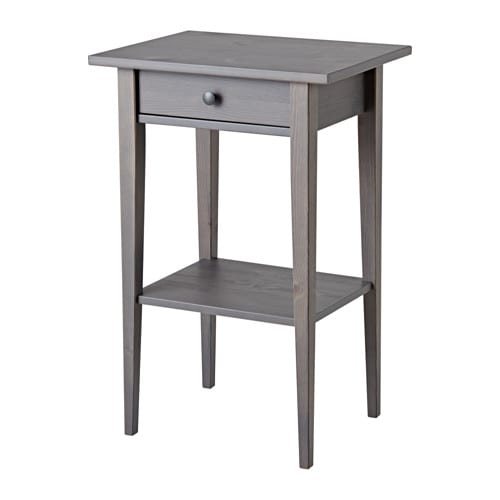 Hemnes Nightstand Dark Gray Stained Ikea