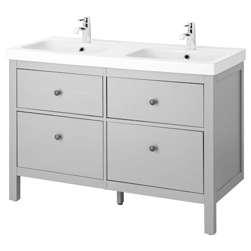 "HEMNES / ODENSVIK sink cabinet with 4 drawers gray 48 3/8 "" 47 1/4 "" 19 1/4 "" 35 """