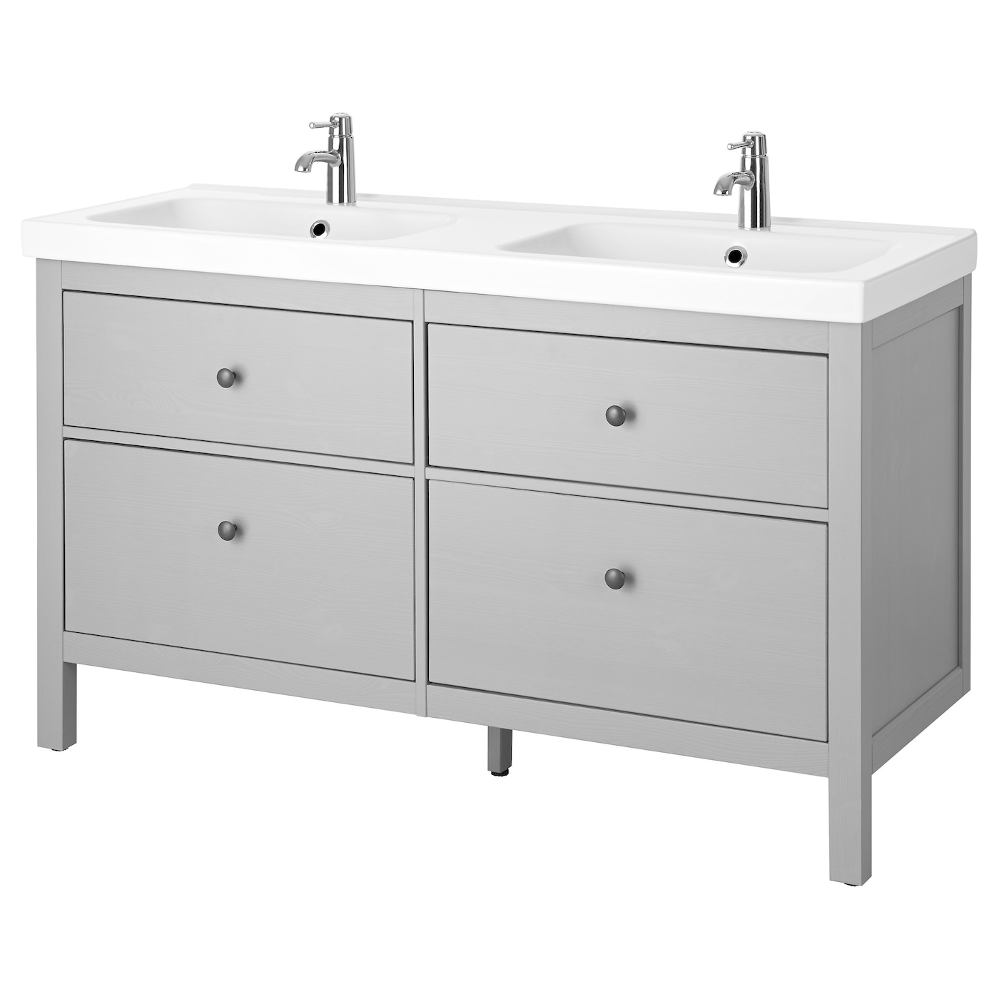 HEMNES / ODENSVIK Sink Cabinet With 4 Drawers, Gray, 56 1/4x19 1/4x35
