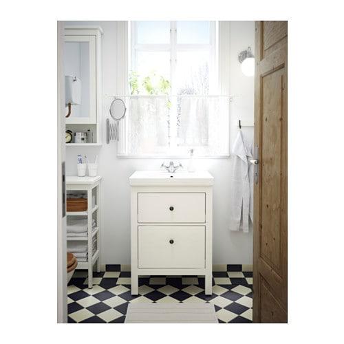 HEMNES ODENSVIK Sink cabinet with 2 drawers white IKEA – Ikea Hemnes Bathroom Vanity