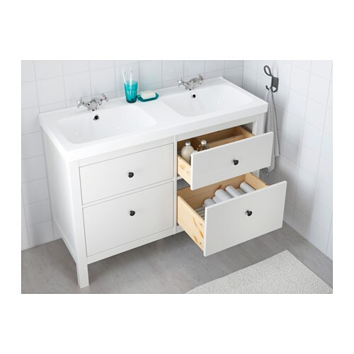 HEMNES / ODENSVIK Sink cabinet with 4 drawers - white - IKEA