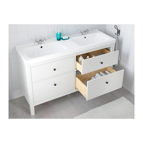 Beautiful HEMNES / ODENSVIK Sink Cabinet With 4 Drawers   Black Brown Stain   IKEA