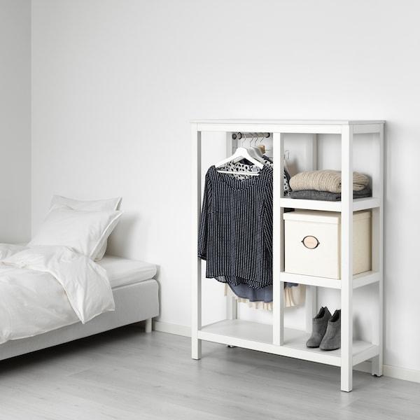 """HEMNES open wardrobe white stained 39 """" 14 5/8 """" 51 1/8 """""""