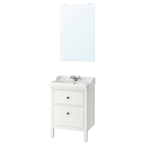 IKEA HEMNES / RÄTTVIKEN Bathroom furniture, set of 4