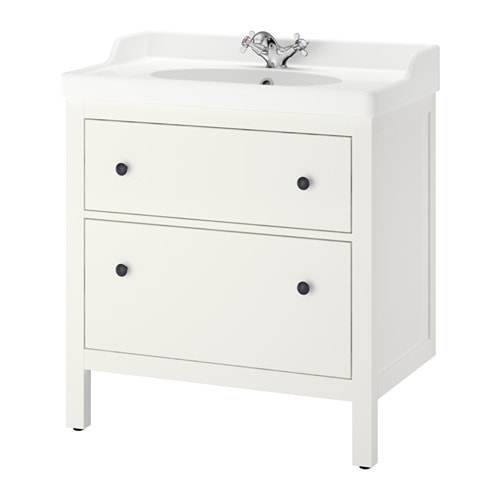 Hemnes r ttviken sink cabinet with 2 drawers white ikea - Armario de lavabo ...