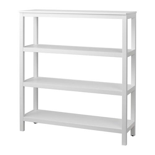 Hemnes shelf unit white stain ikea for Ikea free standing bookshelves
