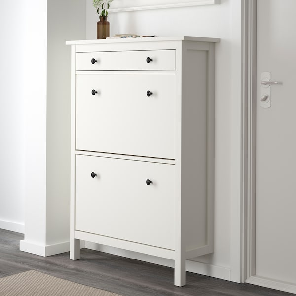 HEMNES Shoe cabinet with 2 compartments, white, 35x50 ""