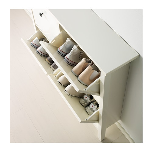 HEMNES   Shoe Cabinet With 4 Compartments, White