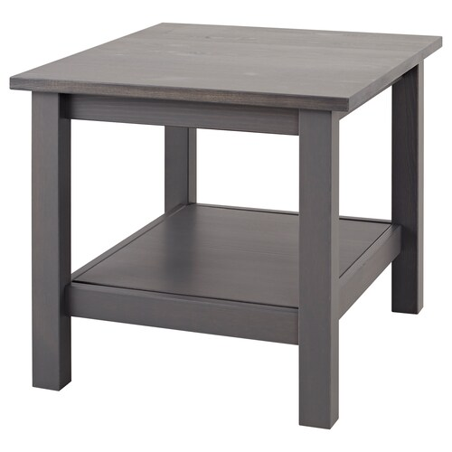 """HEMNES side table dark gray stained 21 5/8 """" 21 5/8 """" 19 5/8 """""""