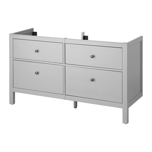Hemnes sink cabinet with 4 drawers gray 55 1 8 ikea for Ikea hemnes grau