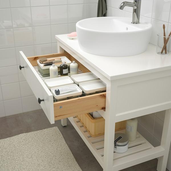 "HEMNES / TÖRNVIKEN Bathroom furniture, set of 4, white/Voxnan faucet, 32 1/4 """