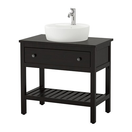 Hemnes Trnviken Open Sink Cabinet With 17 Sink Black Brown