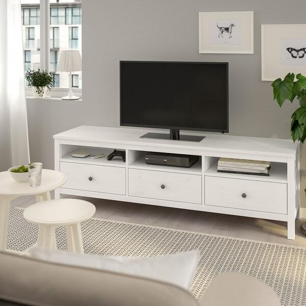 """HEMNES TV unit white stain 72 """" 18 1/2 """" 22 1/2 """" 110 lb"""