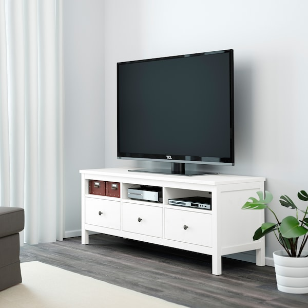 Tv Kast Hemnes Ikea.Hemnes Tv Unit White Stain 58 1 4x18 1 2x22 1 2 Ikea