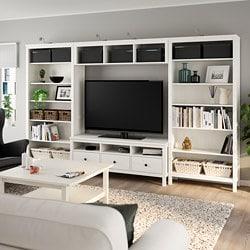 HEMNES TV storage combination, white stain