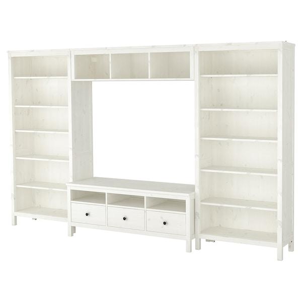 Hemnes Tv Kast Ikea.Hemnes Tv Storage Combination White Stain 128 3 8x77 1 2 Ikea