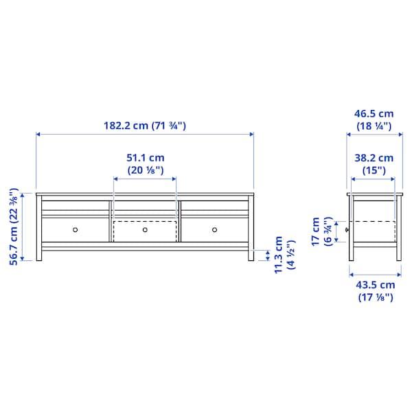 "HEMNES TV unit, black-brown, 72x18 1/2x22 1/2 """