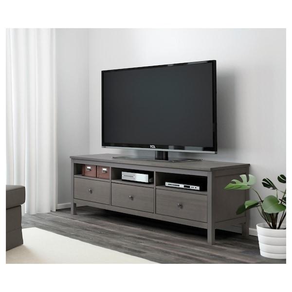 "HEMNES TV unit, dark gray stained, 72x18 1/2 """