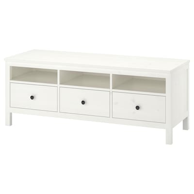 HEMNES TV unit, white stain, 58 1/4x18 1/2x22 1/2 ""